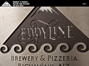 Eddyline Brewery home page screenshot