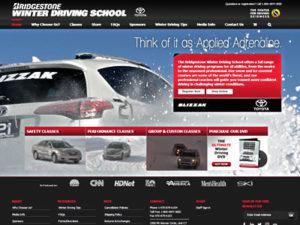 Bridgestone Winter Driving School home page screenshot