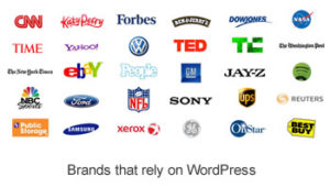 Image of brands using WordPress